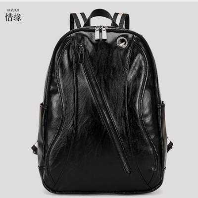 Genuine Leather Backpack For Man Real Cowhide Large Male Backpacks Double Zipper Travel Rucksack Classic man Black shoulder Bags simline new vintage casual genuine leather cowhide men mens large capacity travel backpack shoulder bag bags backpacks for man