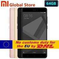 Original Xiaomi Redmi Note 4X 4GB 64GB Redmi Note 4 X Pro Prime Mobile Phone MTK Helio X20 Deca Core 5.5