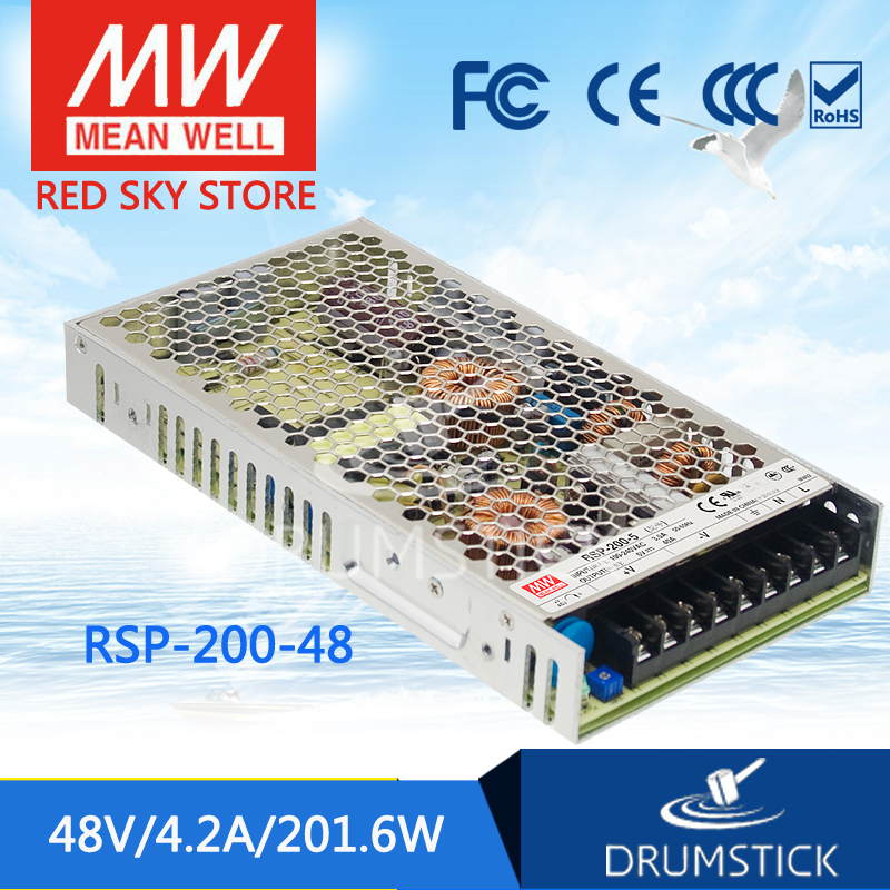 Advantages MEAN WELL RSP-200-48 48V 4.2A meanwell RSP-200 48V 160W Single Output with PFC Function Power Supply [cheneng]mean well original rsp 100 48 48v 2 1a meanwell rsp 100 48v 100 8w single output with pfc function power supply