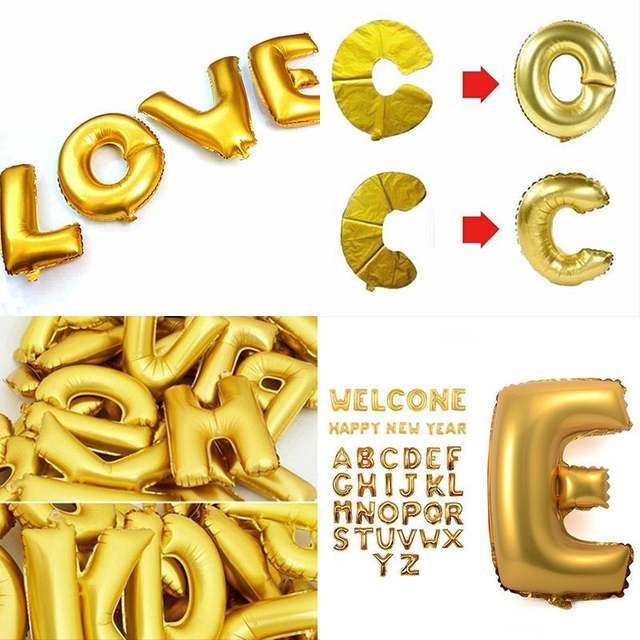 1 piece 16 inch gold foil letter balloons hot alphabet a z inflatable balls orbs for new