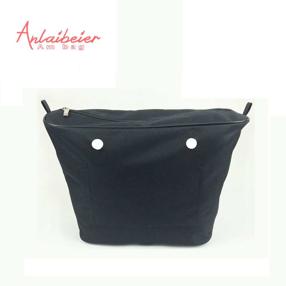 ANLAIBEIER Black advanced polyester lining Zipper Pocket Inner insert for big classic Obag AMbag O lady EVA bag women handbag many colours mini mid size 30cm x 10cm x 28cm o bag obag style ambag body women s fashion eva handbag