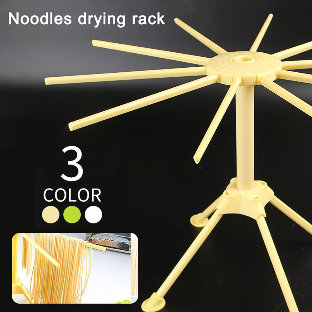 Kitchen Collapsible Spaghetti Pasta Noodles Drying Rack with 10 Bar Handles Useful