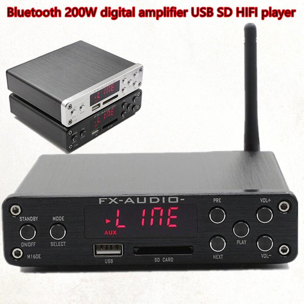 Unterhaltungselektronik Desktop Digitaler Musik-player 160 Watt Unterstützung U-scheibe Sd Ape W/stromversorgung Fx M-160e Ungleiche Leistung Hifi Verstärker Digital Bluetooth 4,0 Audio Amp 160 Watt