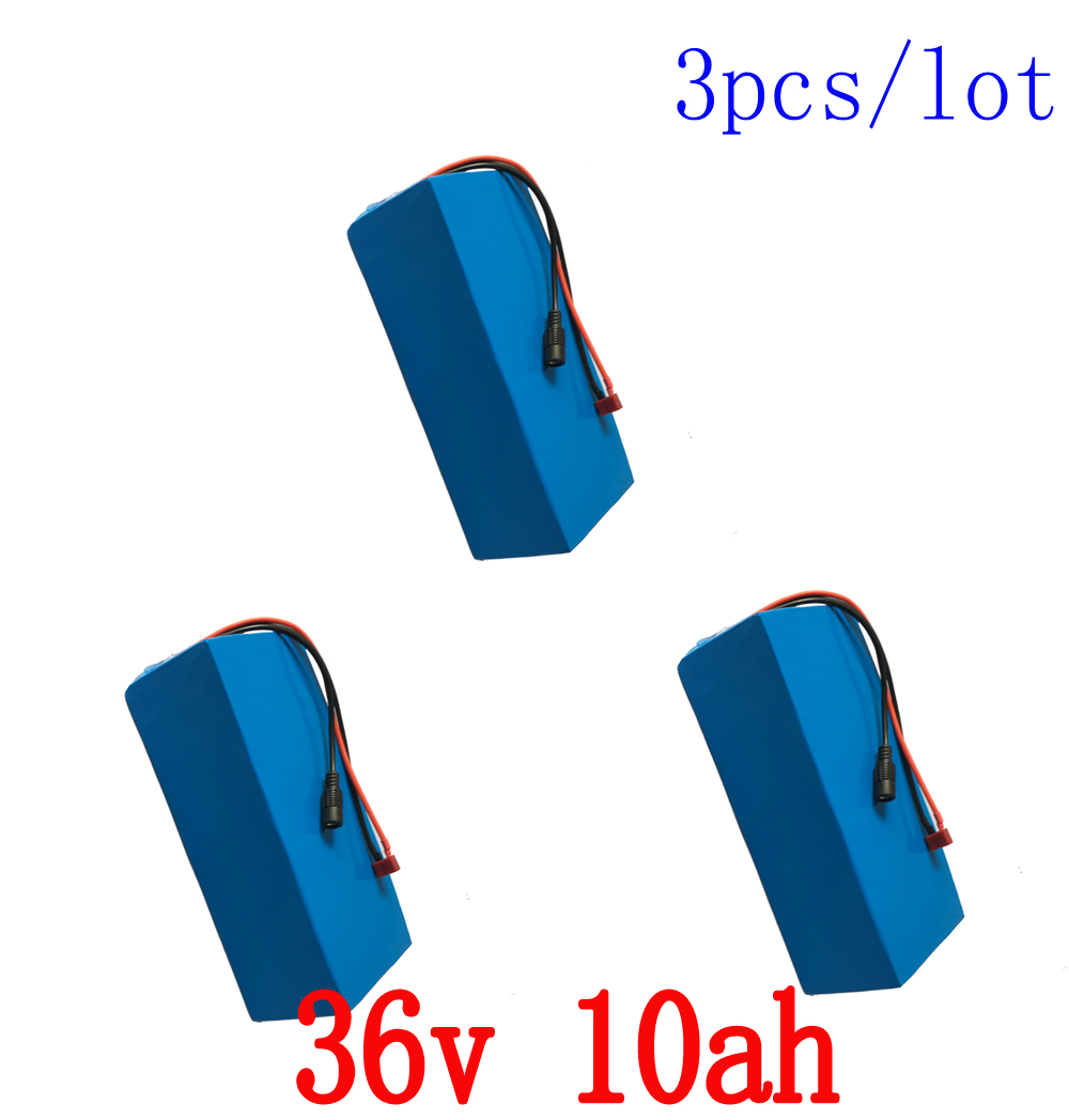 Wholesale 3pcs/Lot eBike Battery 36v 10ah Built in 15A BMS Scooter Lithium Battery 36v with 5pcs 42v 2A Charger Free Shipping