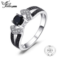 JewelryPalace Elegant 0 8ct Natural Black Spinels Wedding Bands Rings For Women Genuine 925 Sterling Silver