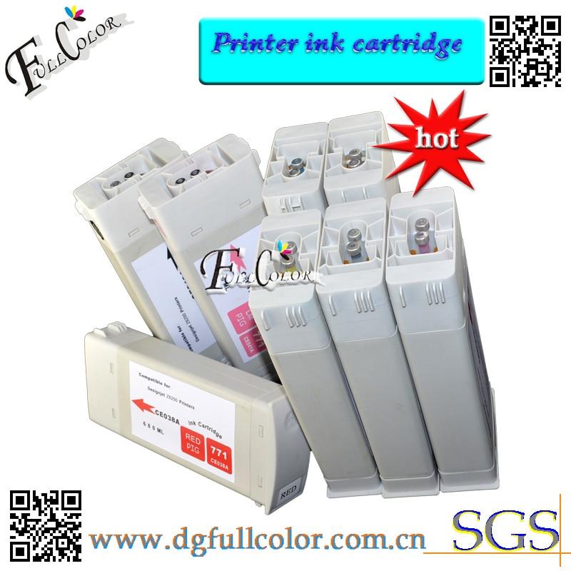 цена  Bulk Ink tank HP771 Replace Ink Cartridge With Chip for  Z6200 printer ink cartridge  full set with high quality pigment inks  онлайн в 2017 году
