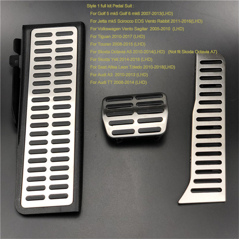 4pcs//Set Footrest Gas Brake Pedali Deoration