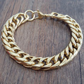 The new fashion of stainless steel (316) cool male golden bracelet (length: 23cm, width: 10mm weight: 40g) ppss-047