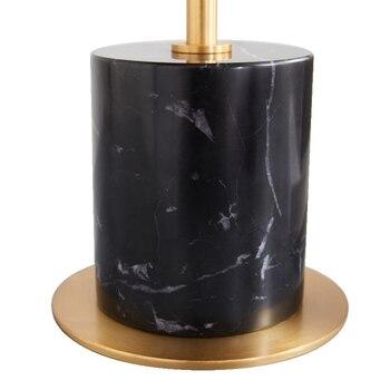 Table Ronde En Métal | Style Nordique Simple Créatif Marbre Chevet Or Corps Lampe De Bureau Modèle Chambre Ronde Verre Clair Chambre étude Décorative Lampe à LED