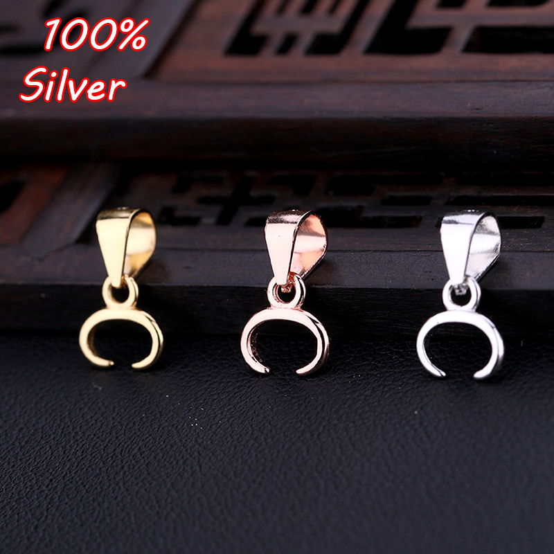 925 Sterling Silver Melon Seeds Buckle Pendants Clasps Hook Clips Bails Connectors Charm  Beads DIY Jewelry Making Accessories