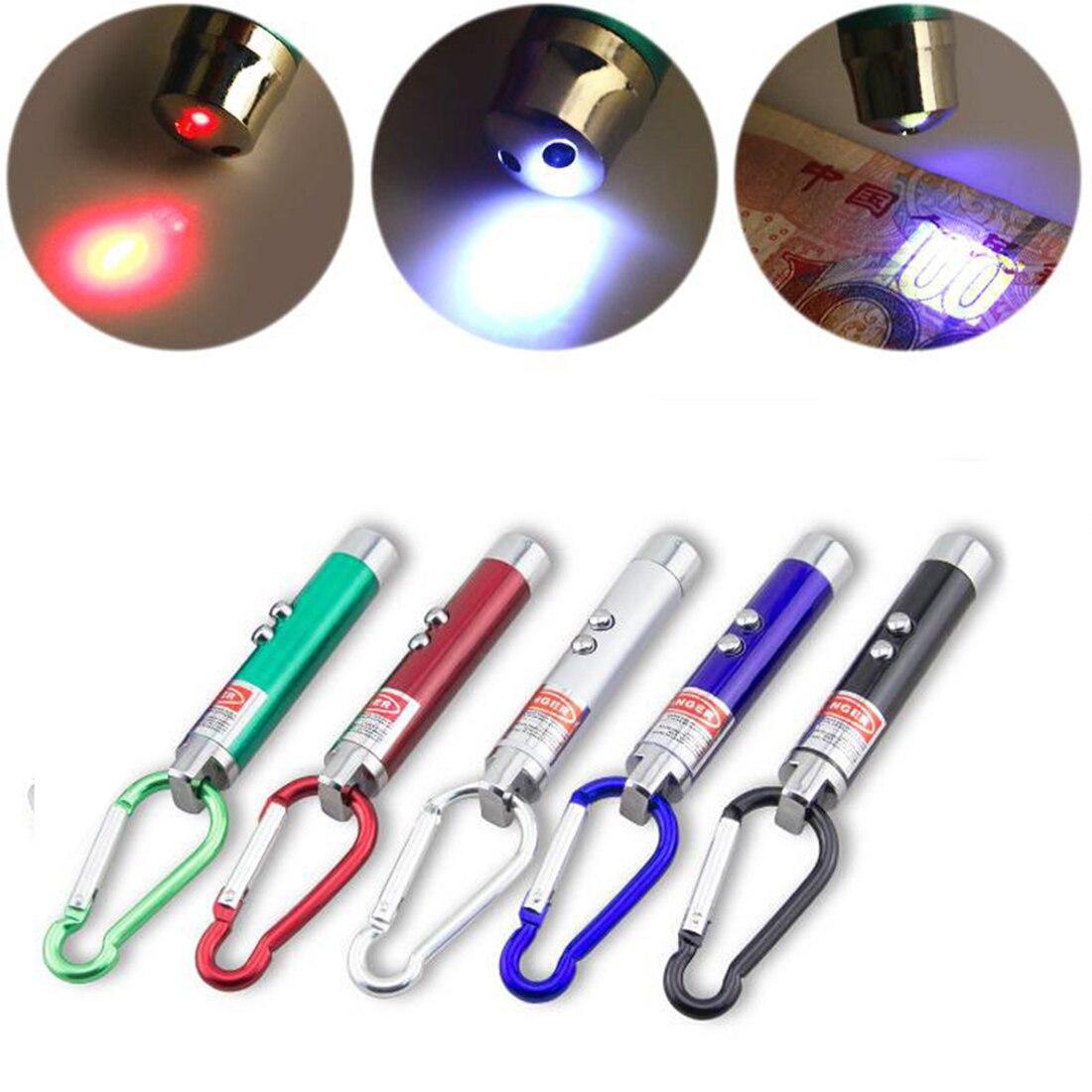 Etmakit 3 в 1 красная лазерная указка Pen фонарик детектор поддельных денег крюк для скалолазания ...