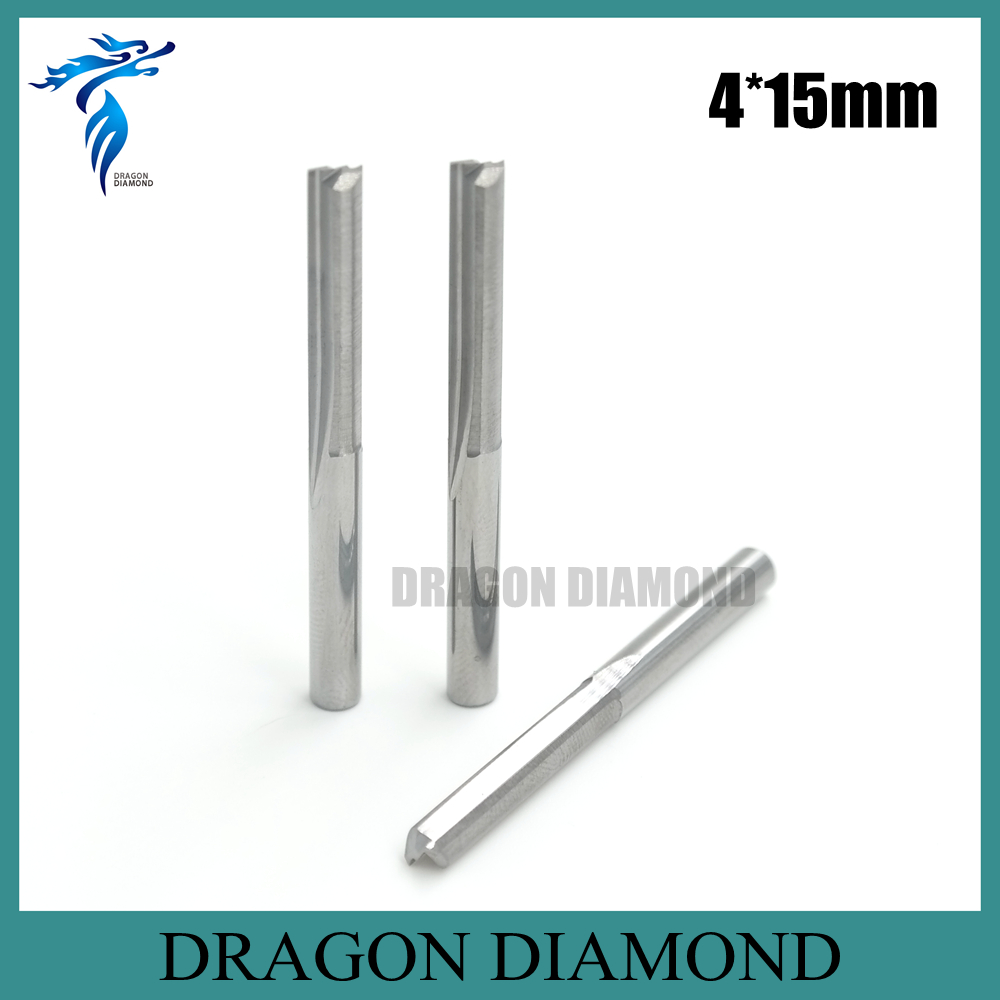10pcs 4*4.0*15MM Two Straight Flutes Carbide End Mill, Wood Working Tools, 2D Engraving Cutting Milling Cutter on PVC 1pc 10 42mm shk two flutes straight