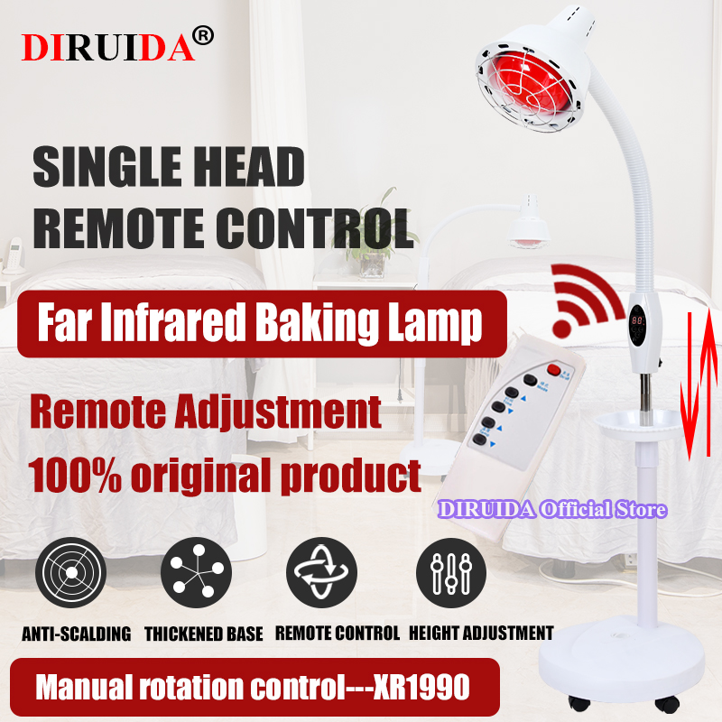 Remote Control Massage TDP Infrared Therapy Heat Lamp Health Pain Relief Physiotherapy 275W Health Care Electric Infrared Light