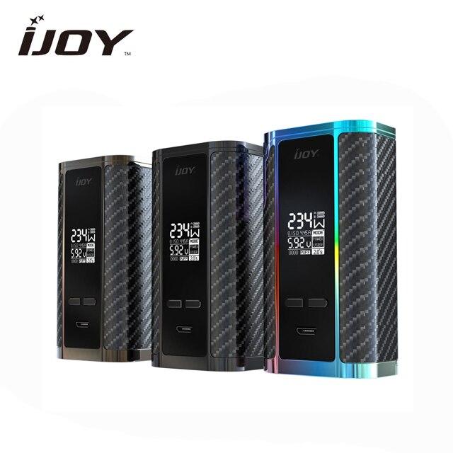 Cigarettes électroniques Mod authentique iJoy Captain PD270 TC boîte Mod 234 W double 20700/18650 Batteries TC OLED affichage vaporisateur
