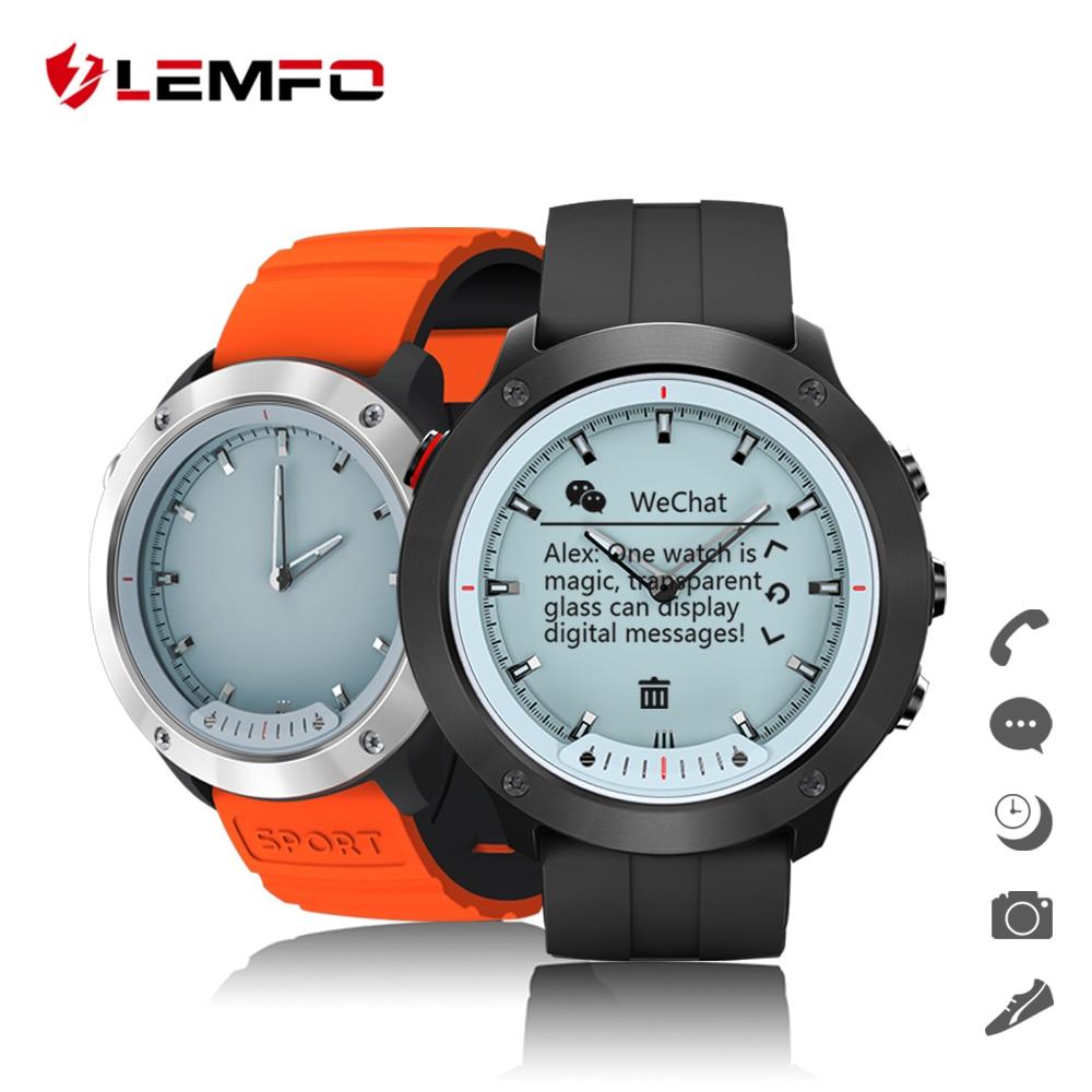 LEMFO профессиональный спорт умные часы IP68 5ATM Водонепроницаемый часы Для мужчин открытый Smartwatch для Android и IOS 10 дней в режиме ожидания