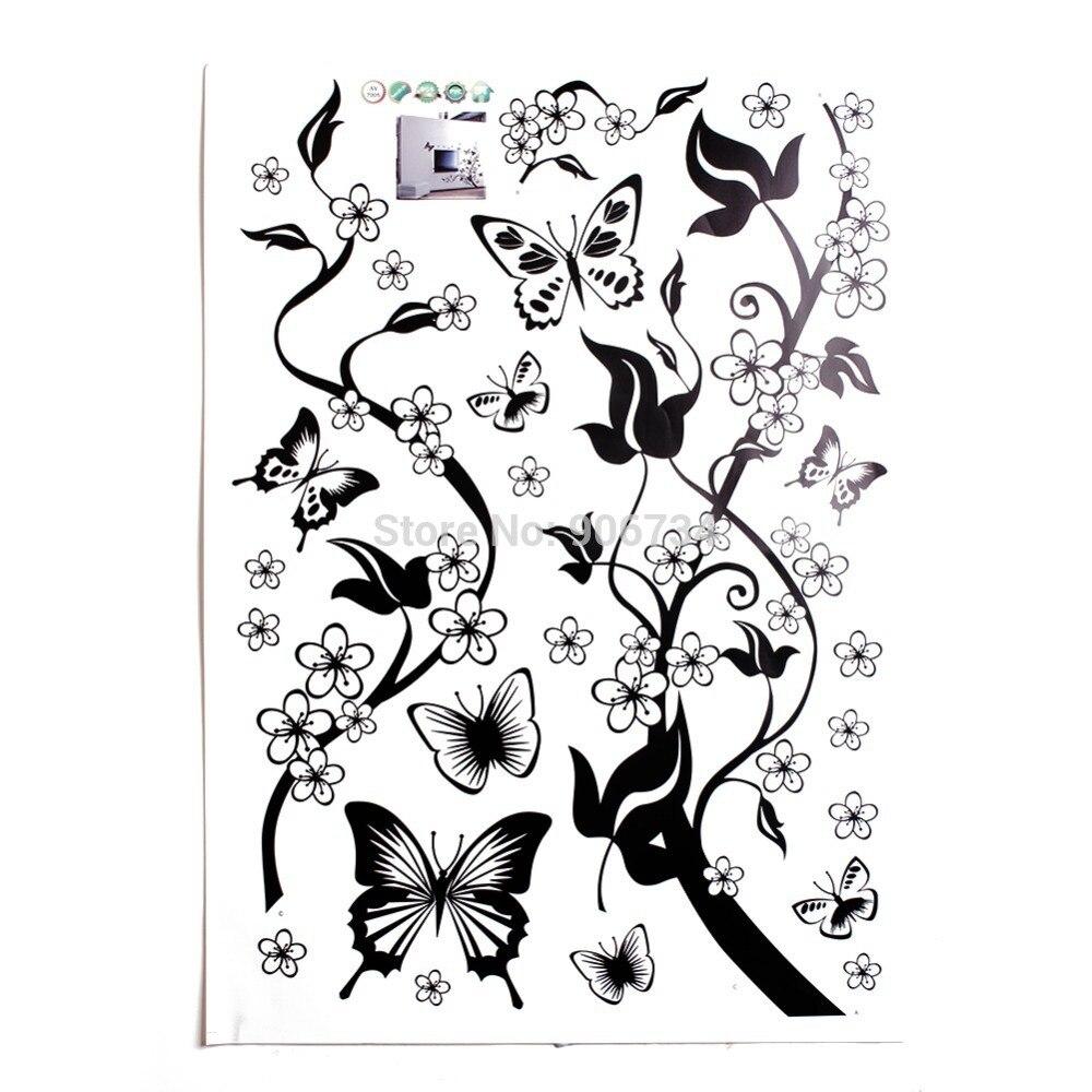 Wholesale Butterfly Flowers Tree Wall Sticker Decor Vinyl ...