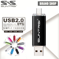 Suntrsi Smart Phone OTG USB Flash Drive Pen Drive External Storage Micro USB Stick Real Pendrive Flash Drive USB Flash
