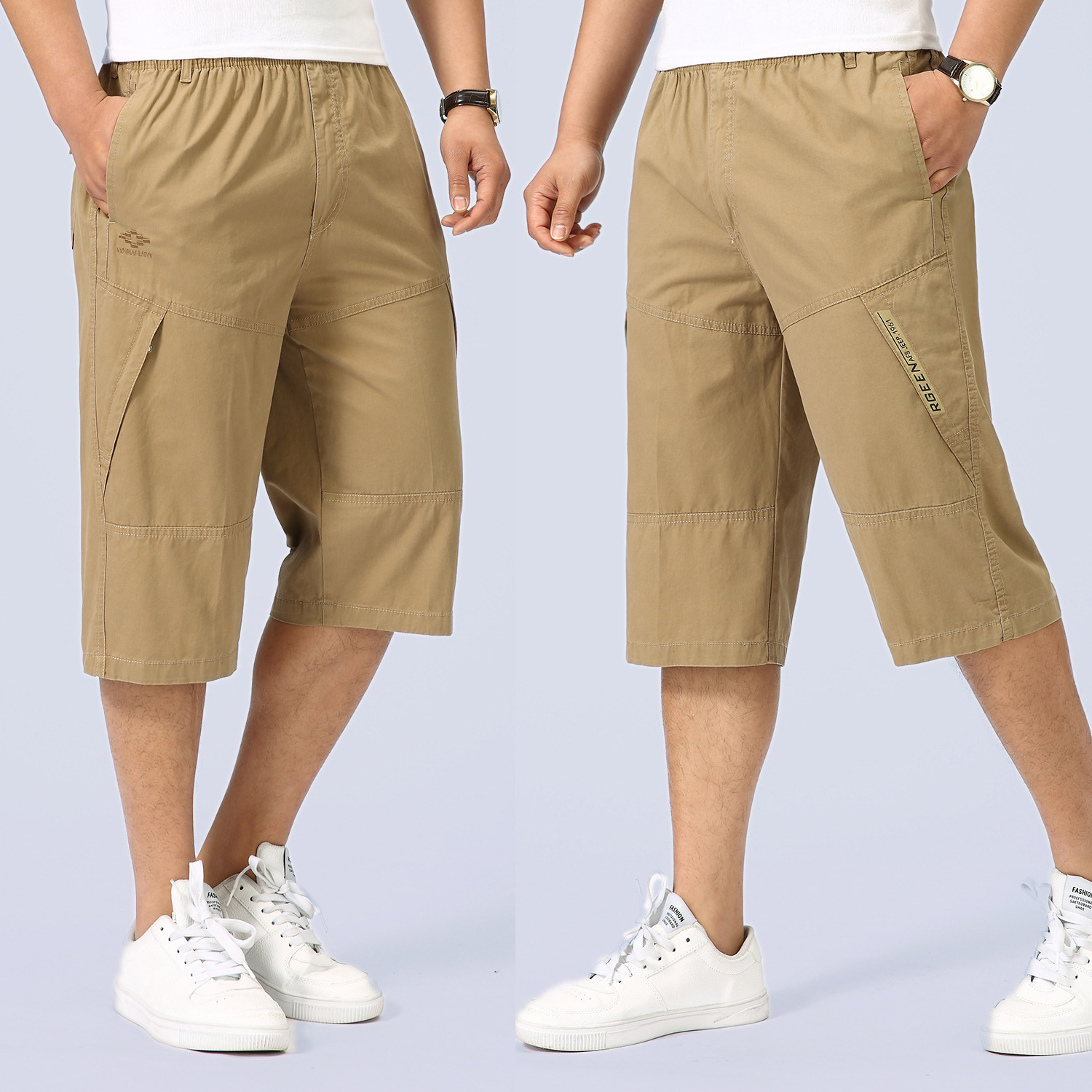 Men Fashion Summer Mens Casual Brand Shorts Solid High Quality Compression Male Cargo Shorts Men Short