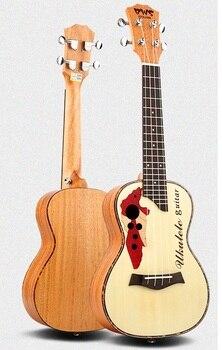 цена на 23 Inch Ukulele Hawaiian Four Strings Small Music Mini Guitar Acoustic Wood 4 Aquila Strings Mahogany Rosewood Fretboard Bridge