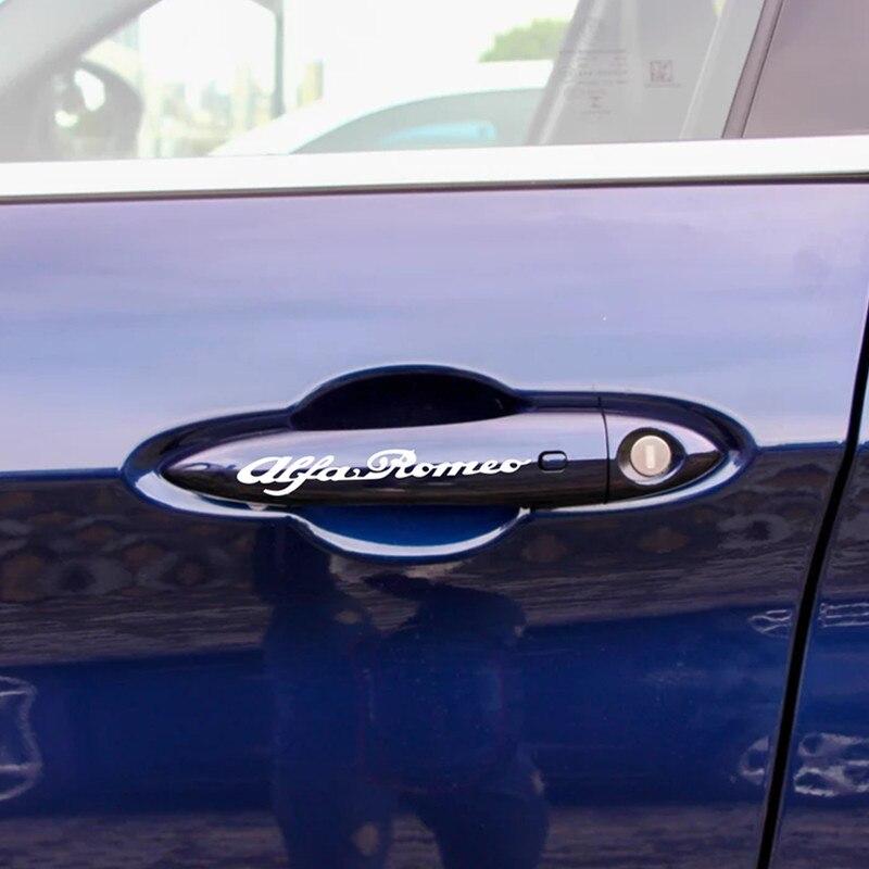 Image 3 - 4 шт. для Alfa Romeo Литые виниловые наклейки для тормозного суппорта наклейки для автомобиля логотип эмблема значок наклейки для giulietta Mito 147 156 159 166-in Наклейки на автомобиль from Автомобили и мотоциклы