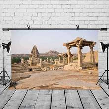 150x220cm Indian Ancient Buildings Backdrop Empty Photography Background for Camera Photo