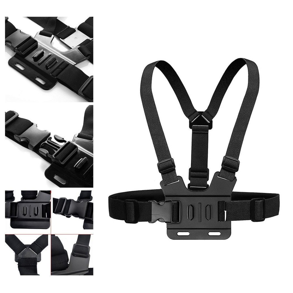 MOONBIFFY Chest Strap Belt For Gopro Hero 7 6 5 Action Camera SJCAM SJ4000