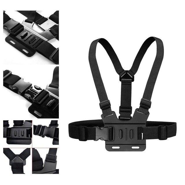 Ngực Strap núi belt cho Gopro hero 7 6 5 Xiaomi yi 4 K Hành Động máy ảnh Ngực Núi Harness đối GoPro SJCAM SJ4000 thể thao cam sửa chữa