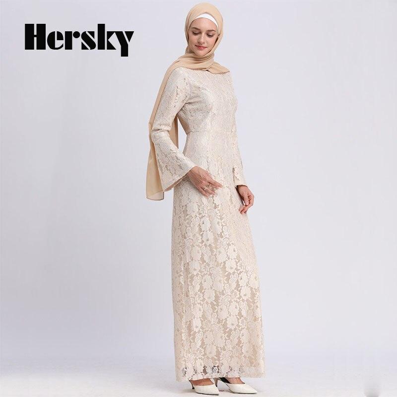 Adulte Dubai femmes Slim soirée pleine dentelle Robe Abaya vêtements turc islamique musulman trompette manches caftan Abayas Robe à vendre