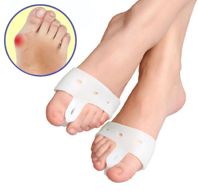 Wholesale Pairs Profession Silica Gel Hallux Valgus Orthodontic Appliance Forefoot Care Foot Arch Repair Bunion Toe Separator 1pair free size toe straightener big toe spreader correction of hallux valgus pro toe corrector orthopedic foot pain relief