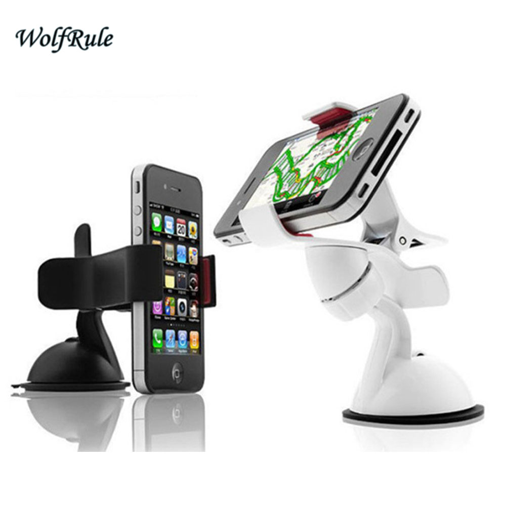 Universal Car Phone Holder Windshield Mount Mobile Phone Holder Stand For iPhone 5 6 Plus Galaxy S4 S5 S6 Edge Note 3 4 GPS ;