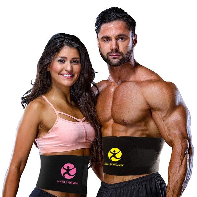 Waist Trainer for Women & Men Weight Loss Neoprene Sweat Waist Trimmer Slimmer Belt Adjustable Stomach Wraps Belly Fat Burner 5