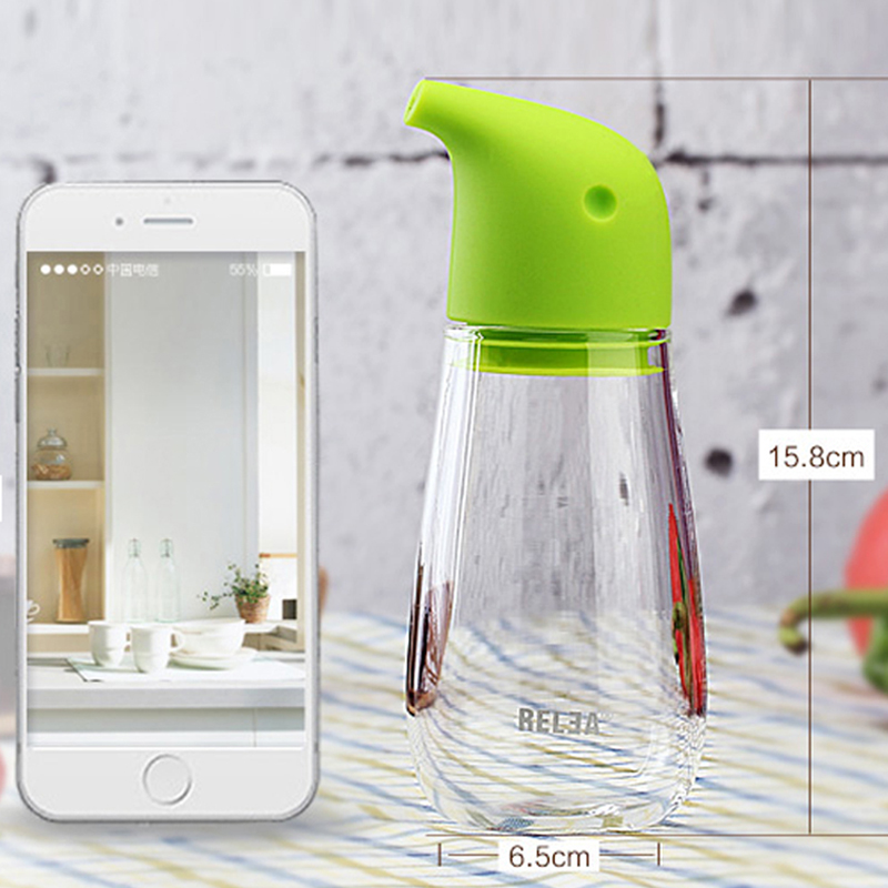 Penguin Oiler Boron Silicon Glass Oiler Sesame Oil Bottle Kitchen Supplies Leak-proof Oil Bottle 220ml