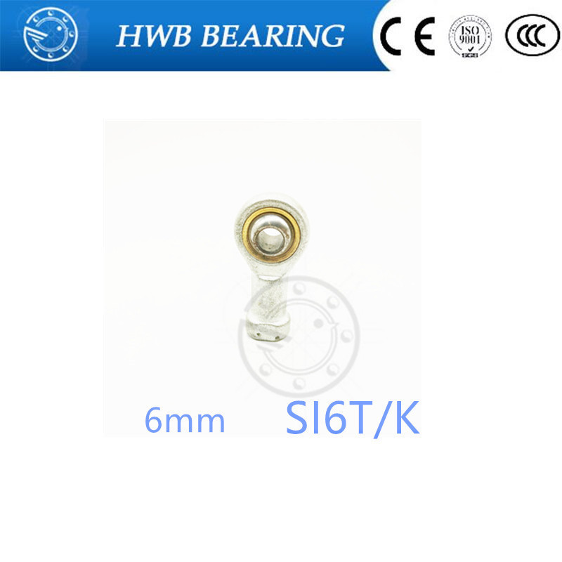 free shipping 1pcs SI6T/K PHSA6 6mm right hand female thread metric rod end joint bearing SI6TK