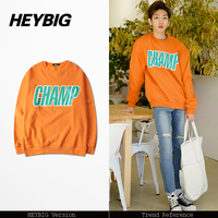 Asian Size Korean Hot Candy Color Jumper Loose Fit HEYBIG Men Women 2017 FW Warm Clothing