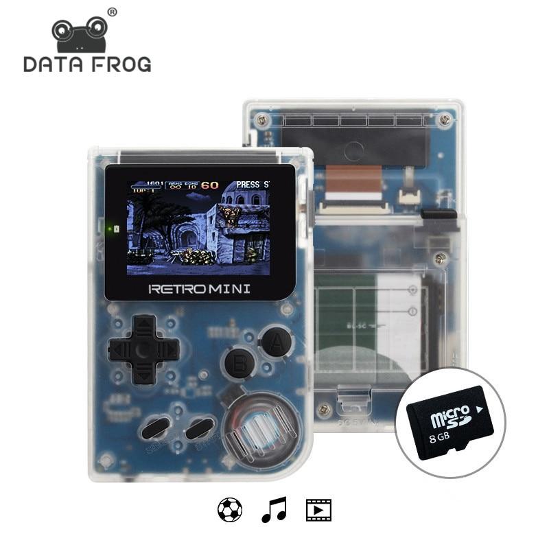 Los datos de la rana juego de Video Mini consola portátil de bolsillo portátil de 2,0 pulgadas 32 bit juegos clásicos mejor regalo para niño nostálgico jugador