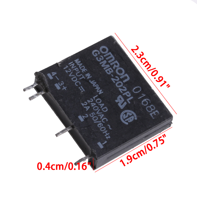 New Solid State Relay G3MB-202P DC-AC PCB SSR In 12V DC Out 240V AC 2A smart electronics original solid state relay g3mb 202p dc ac pcb ssr in 5vdc out 240v ac 2a
