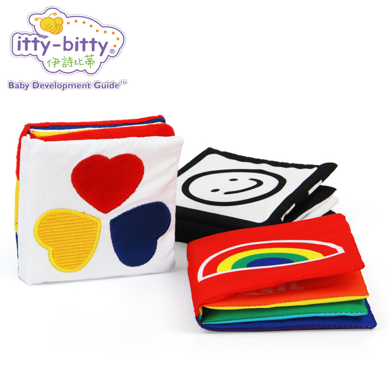 Itty-bitty Best Kids New Baby First Colorful Soft Cloth Infant Book Educational Toy for Children Stimulate Vision Pack of 3 Gift 6pcs set infant baby cloth rattle toy building blocks kids educational toy gift kids soft cube cloth magical bell rattles blocks