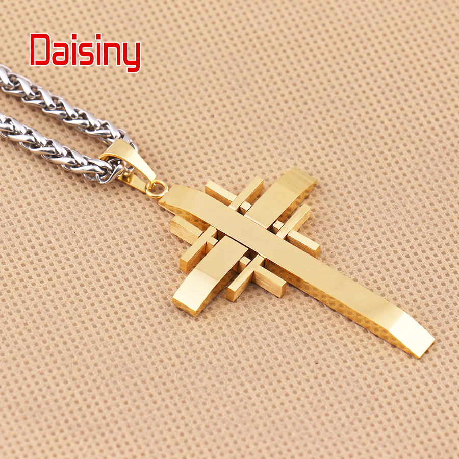 Classic Cross Pendants For Men Jewelry 316L Stainless Steel Never - Fashion Jewelry - Photo 3