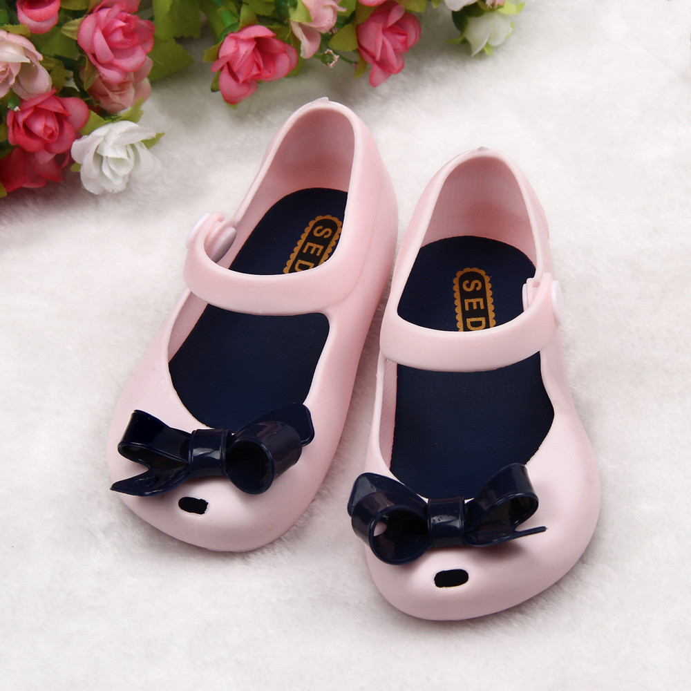 Toddler Shoe Anti-Slip Bowknot Baby Kids Warm Child Detailed Jelly BFOF Fish-Mouth Thick