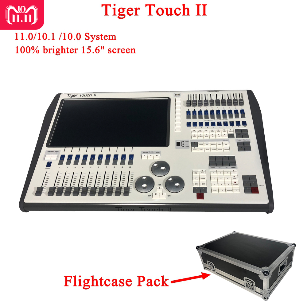 NEW Tiger Touch II Controller DJ Equipment DMX 512 Console Stage Lighting For LED Par Moving Head Spotlights Disco DJ Controlle hot sale 240a dmx controller 240b console stage lighting dj equipment dmx 512 console for led par moving head spotlights dj
