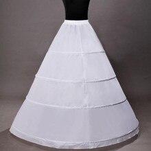 4 подъюбника для невесты, белые дешевые свадебные бальные платья, кринолин