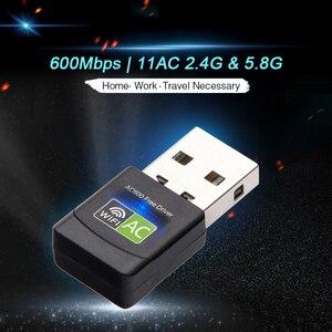 Image 3 - Adaptador Wifi USB tarjeta de red inalámbrica de 600Mbps, receptor de Antena Ethernet, Wifi, USB LAN, banda Dual de CA, 2,4G, 5GHz para llave electrónica de PC y Wi fi