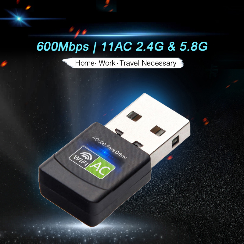 Image 3 - USB Wifi адаптер 600 Мбит/с беспроводная сетевая карта Ethernet антенна Wi Fi приемник USB LAN AC двухдиапазонный 2,4G 5 ГГц для ПК Wi Fi ключ-in Сетевые карты from Компьютер и офис