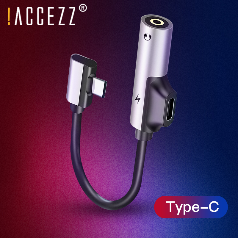 !ACCEZZ USB Type C Adapter For Xiaomi Mi 6 5 Huawei Mate 10 Pro Fast Headphone Jack Splitter Charging Audio Earphone Connector