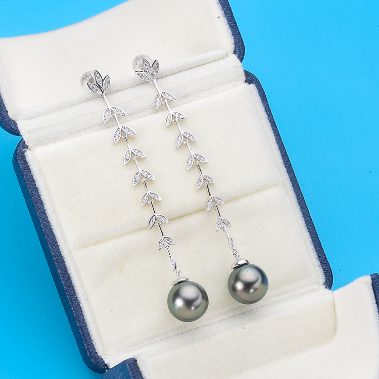 925 Sterling Silver Pearl Party Earrings Good Quality Mountings Classical Silver Jewelry Parts Fittings Women's Accessories