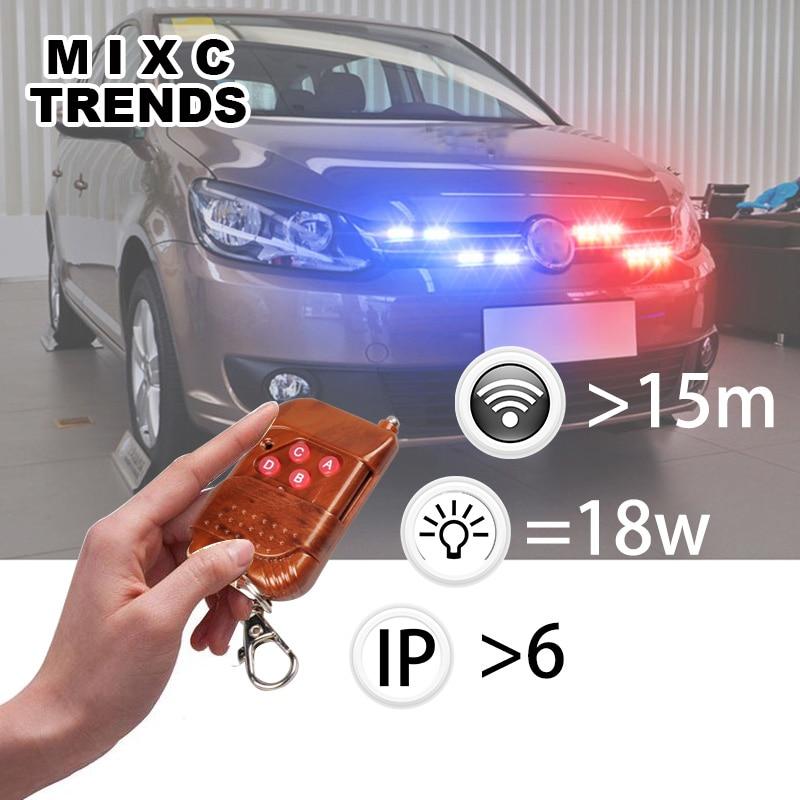 4X3LED DRL bežični daljinsko upravljani LED stroboskop svjetlo Bar - Svjetla automobila - Foto 2