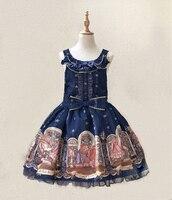 2018 New JSK Lolita Dress Bear inventor Cosplay Costumes High Quality Bow tie Cute Dress Strap Dress