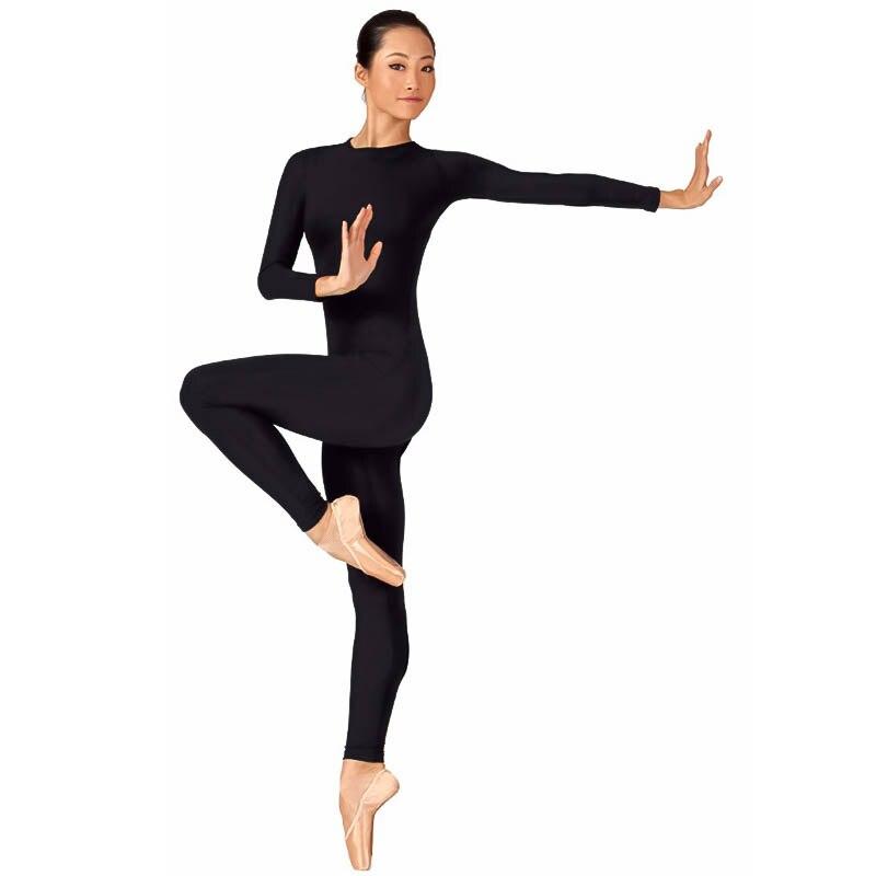 6aee3e0f38 Adulto de Alta Qualidade Zipper Traseiro Dança Ballet Adulto Bodysuit  Spandex Lycra Catsuit Unitard Tanque das Mulheres Roupas de Yoga Mulher  Siamese