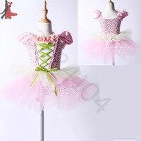 2018 yeni seksi moda dış ticaret çocuk pembe Prenses Tutu çiçek kız bale dans elbise ücretsiz kargo sıcak satış