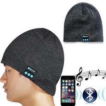 2016 Beanie Hat Phones Wireless Bluetooth Earphone Smart Headset Speaker Mic Winter Outdoor Sport Stereo Music Hat